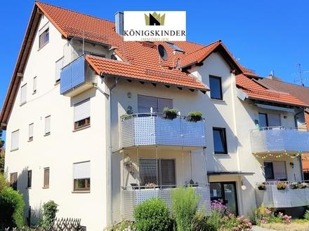 3,5 Zi.-DG-Maisonette-Wohnung mit Terrasse und Einzelgarage im 6-Familienhaus in Tamm - vermietet