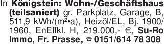 In Königstein: Wohn-/Geschäfts...