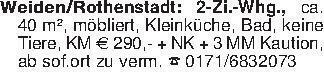 Weiden/Rothenstadt: 2-Zi.-Whg....
