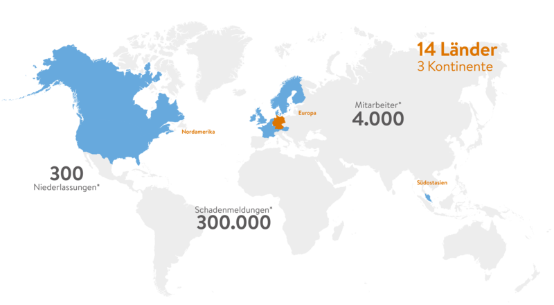 Weltkarte Standorte