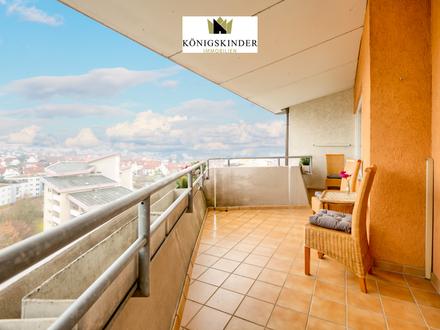 Gut geschnittene 2-Zimmer Penthouse Wohnung mit tollem Ausblick auf die Dächer von Hemmingen und TGS