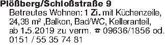 Plößberg/Schloßstraße 9Betreut...