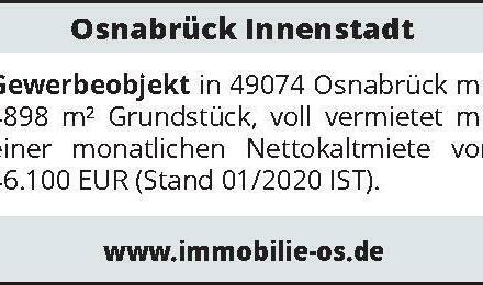 Osnabrück Innenstadt - Gewerbeobjekt