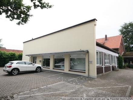 Großzügige Ladenfläche mit Bürotrakt und Lagerhalle in Wardenburg