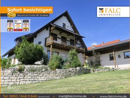 Einfamilien-Wohnhaus mit 2 Wohnungen, Mehr-Generationen-Haus. 93339 Riedenburg/Buch. Bezugsfrei.