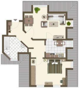 2-Raum-Mietwohnung in Mulda