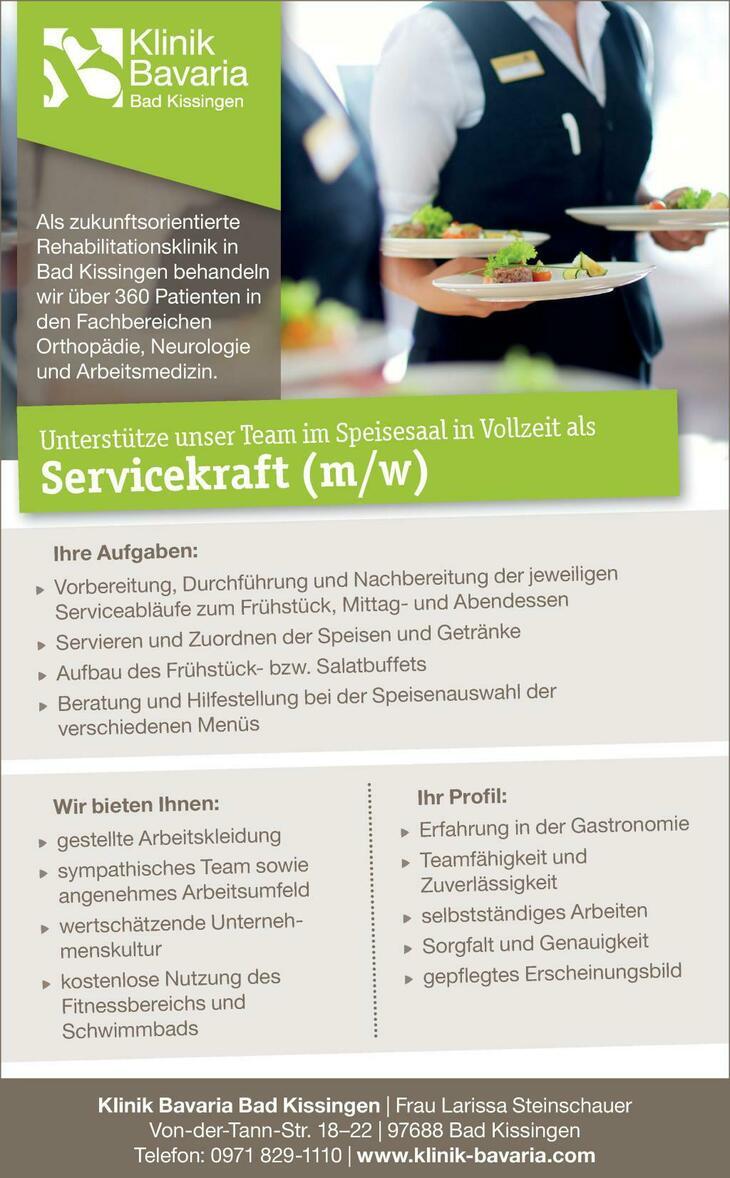 Unterstütze unser Team im Speisesaal in Vollzeit als Servicekraft (m/w)  Wir freuen uns auf Ihre Bewerbung!