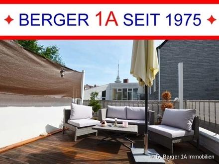 TOP MODERNE, 2,5 ZI-WHG mit DACHTERRASSE, neuwe. Einbauküche, D-Bad, sep. WC, in ruhiger Wohnlage
