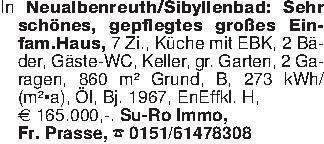In Neualbenreuth/Sibyllenbad:...