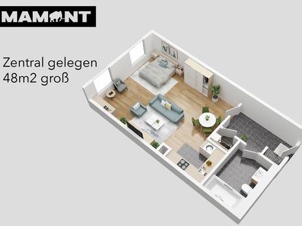 €599/Monat! 46m2 1-Zimmer Wohnung mit Wohnküche und Abstellraum (2.09)