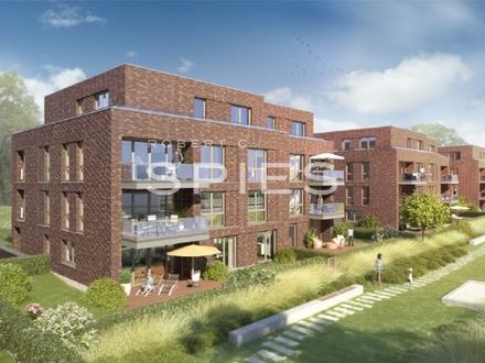 Hochwertig Wohnen an der Kleinen Weser - Lichtdurchflutete 3-Zimmer-Neubau-Wohnung mit Balkon