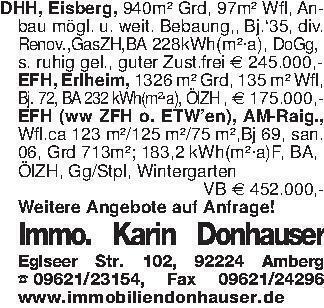 DHH, Eisberg, 940m² Grd, 97m²...