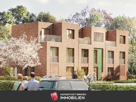 Worpswede / Bötjerscher Hof - Großzügige Neubau-Eigentumswohnung mit Süd-Balkon