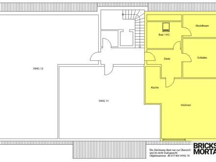 Wohnen im Alter! Sanierte 2-Zimmer-Wohnung gegenüber Tagespflege! 78m²!
