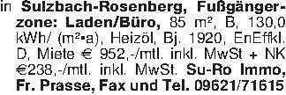 in Sulzbach-Rosenberg, Fußgäng...