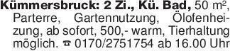Kümmersbruck: 2 Zi., Kü. Bad,...