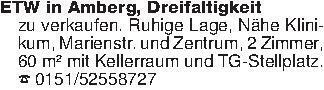 ETW in Amberg, Dreifaltigkeit...