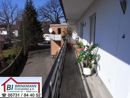 Kapitalanleger aufgepasst - gepflegte Wohnung mit Südbalkon und Garage in zentraler Lage von Hüllhorst