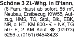 3 Zi Whg. in Bühlertann