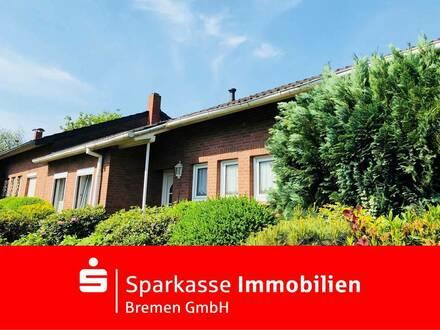 Ebenerdig Wohnen im attraktiven Reihenhaus-Bungalow in Bremen-Schönebeck
