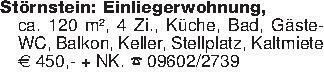 Störnstein: Einliegerwohnung,c...