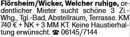 3-Zimmer Mietwohnung in Flörsheim-Wicker (65439)