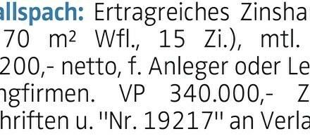 15-Zimmer Haus in Gallspach (4713) 270m²