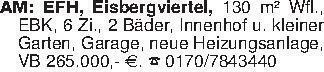 AM: EFH, Eisbergviertel, 130 m...