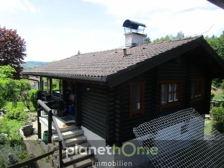 Winterfestes Holzblock-Ferienhaus in Ruhelage