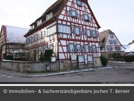 Historische, renovierte 4 Zi. Wohnung im 1. OG in Vellberg - Im Städtle