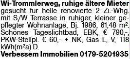 3-Zimmer Mietwohnung in Wiesbaden (65195)