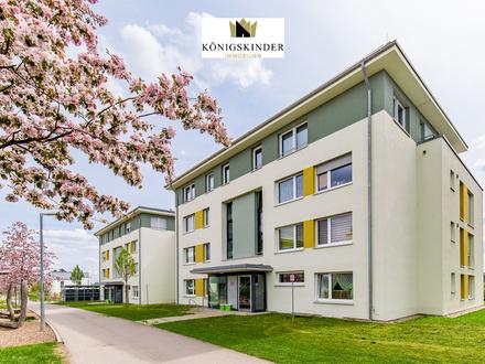 Zentral gelegene,barrierefreie 3-Zimmer-Wohnung in modernem Mehrfamilienhaus + Garten zum Festpreis