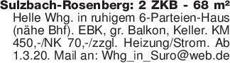 Sulzbach-Rosenberg: 2 ZKB - 68...