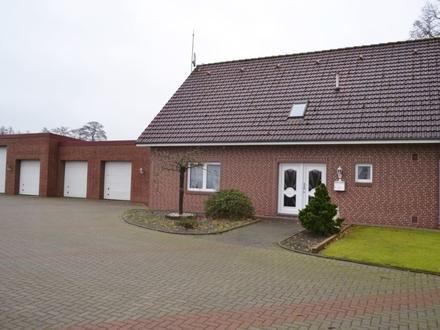 komfortables, betriebliches Wohnhaus mit Wintergarten und Garagenanlage in Barßel zu verkaufen