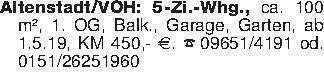 Altenstadt/VOH: 5-Zi.-Whg., ca...