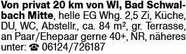 2-Zimmer Mietwohnung in Bad Schwalbach (65307)