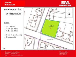 Baugrundstück ( auch gewerblich ) in zentraler Stadtlage...