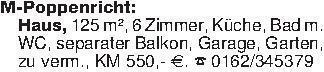 M-Poppenricht:Haus, 125 m², 6...