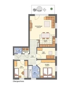 Whg. 4 - Familienfreundlich - OG-Lifestyle-Wohnung - Neubau KfW55-Wohnanlage Petershagen