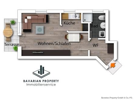 Gepflegte 1-Zimmer-Wohnung mit Balkon im Süden von Straubing