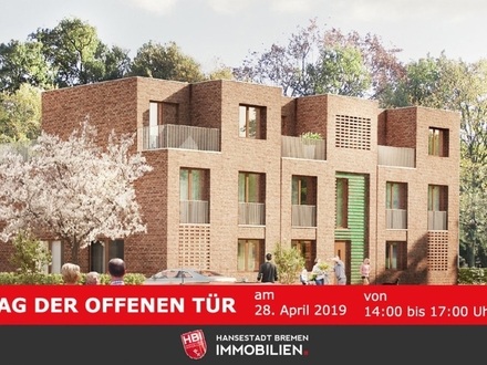 Worpswede / Kapitalanlage: Bötjerscher Hof - Helle Neubau-Erdgeschosswohnung mit Garten