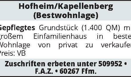 Hofheim/Kapellenberg (Bestwohnlage)
