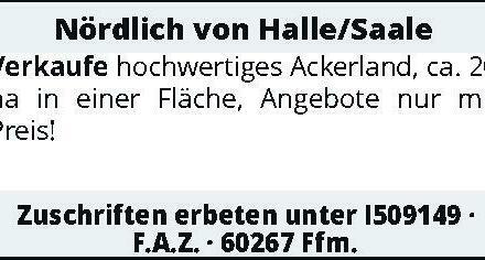 Nördlich von Halle/Saale