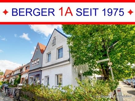 MODERNISIERTES 1-2 FAM.-REIHENECKHAUS mit 5 Zimmern, Dachterrasse, 2 V-Bäder u. EBK´s sowie Garage