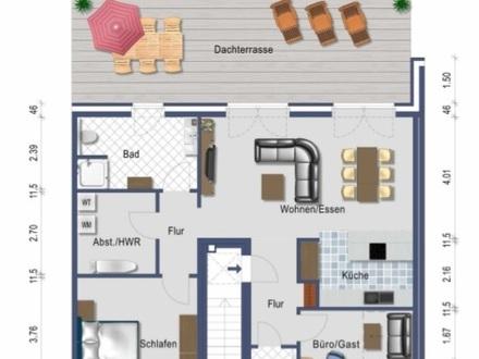 Gemen: Penthousewohnung mit großer Dachterasse
