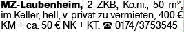 2-Zimmer Mietwohnung in Mainz (55130)