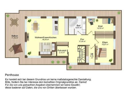 3-ZI-Penthouse, Wohnung 4
