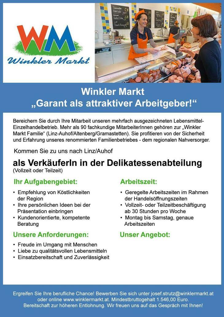 Bereichern Sie durch Ihre Mitarbeit unseren mehrfach ausgezeichneten Lebensmittel-Einzelhandelsbetrieb!