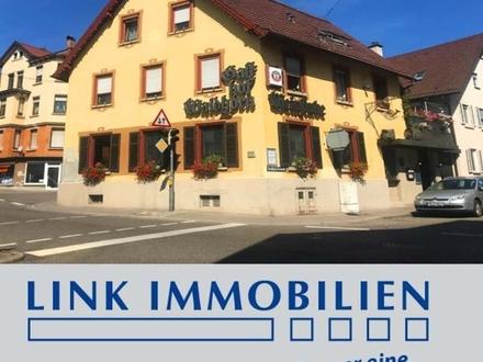 S-Untertürkheim: Gaststättenbetrieb mit Zimmervermietung und DG-Wohnung