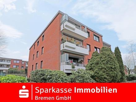 Bremen-Horn-Lehe: Gut aufgeteilte Drei-Zimmer-Wohnung mit Tiefgaragenstellplatz